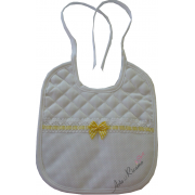 Soft Bib for your Baby - Vichy Line - Yellow