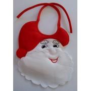 Bavaglino Babbo Natale da Ricamare a Punto Croce