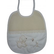 Baby Bib - Cream - My Baby with Dog