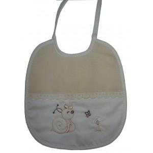 Bavaglino Panna - Il Mio Bebé con Lumachina