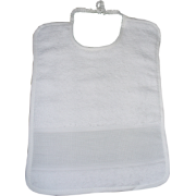 Terry Baby Bib with Aida Band - Emma - White