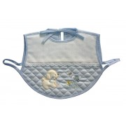 Baby Bib Smock for Eating - Light Blue