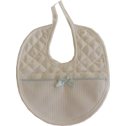 Light Blue Baby Bib - Snow Line