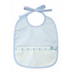 DMC - Babero para Bebè de 6 Meses - Color Celeste - Art. RS1968