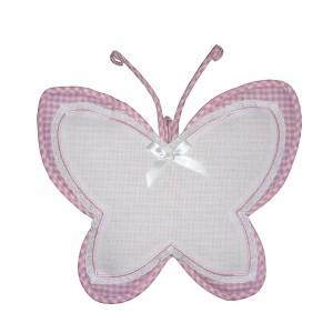Coccarda Nascita - Farfalla - Rosa