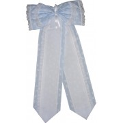 Baby Cockade Announcement  - Light Blue Baby Ribbon