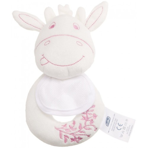 DMC Baby - Ready to Stitch Pink Cow Rattle