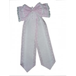 Baby Cockade Announcement  - Pink Baby Ribbon