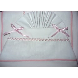 Stitchable Baby Bed Sheets - Pink 120x180 cm