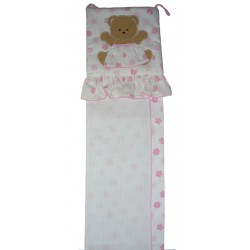 Baby Meter with Teddy Bear to Cross Stitch
