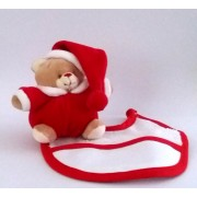 Teddy Bear with Baby Bib to Cross Stitch  - Christmas