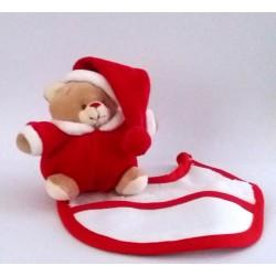Teddy Bear with Baby Bib to Cross Stitch  - Christmas