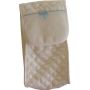 Light Blue Soft Baby Bottle Holder - Snow Line