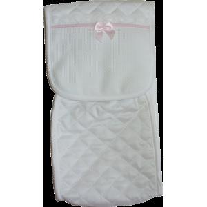 Porta Biberon Bebé da Ricamare - Linea Neve  - Colore Rosa