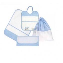 Kindergarten Linen Set for Lunch - Painting Linen - Light Blue