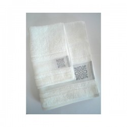 Terry Bath Towel with Greek Motifs - Ready to Stitch