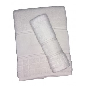 Bath Terry Towel to Cross Stitch -  Olivia - White Color