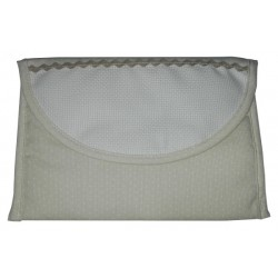 Medium Cosmetic Pouch to Cross Stitch - Cream with Little White Dots