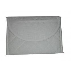 Terry Cosmetic Pouch to Cross Stitch - White Color
