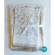 DMC - Coppia Asciugamani Spugna da Ricamare - Lino e Cotone - Art. CL109L