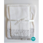 DMC - Coppia Asciugamani Spugna da Ricamare - Lino e Cotone - Art. CL110L