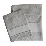 Exagon Terry Bath Towel - Grey Color
