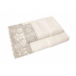 DMC - Coppia Asciugamani Spugna da Ricamare - Lino e Cotone - Art. CL088L