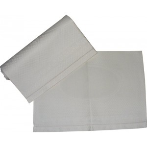 Couple of Bath Towels with Hemstitch - Ivory