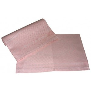 Couple of Bath Towels with Hemstitch - Pink