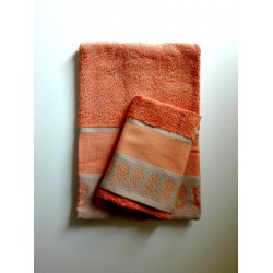 DMC - Terry Bath Towel  - Ready to Stitch - Flowers