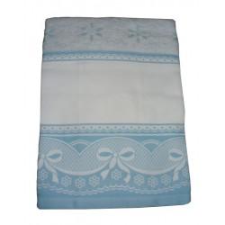 Terry Bath Towel with Aida Border - Sangallo