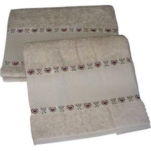 DMC - Coppia Asciugamani Bagno con Cuoricini