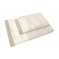 DMC - Coppia Asciugamani Spugna da Ricamare - Lino e Cotone - Art. CL086L