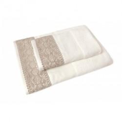 DMC - Coppia Asciugamani Spugna da Ricamare - Lino e Cotone - Art. CL087L