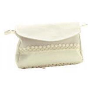 Large Cream Clutch Bag  with Aida Band