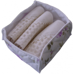 Floral Guests Basket  with Ready to Stitch Cotton  Towels