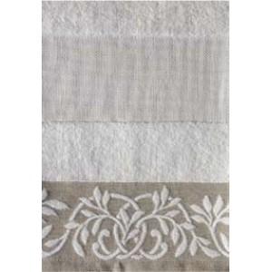 DMC - Coppia Asciugamani Spugna da Ricamare - Lino e Cotone Art. CL052L