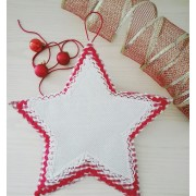 Stitchable Christmas Cross Stitch Door Wreath - Star