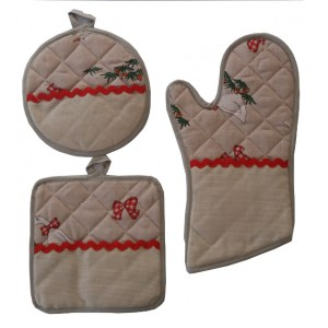 Potholders and Oven Gloves Ready to Stitch - Fancy Geese