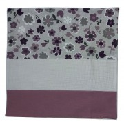 Pillow Cover to Cross Stitch - Lilac Flowers