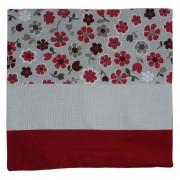 Funda para Cojin - Flores Rojo