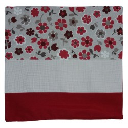 Pillow Cover to Cross Stitch - Red Flowers