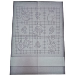 Kitchen Towel Coffee - Grey