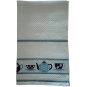 Kitchen Terry Towel with Aida Band - Cups