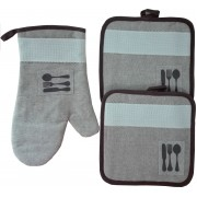 Linen Potholders and Oven Glove - Cutlery