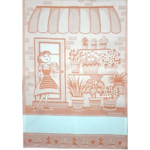 Paño de Cocina  de Color Naranja - La Chica de las Flores