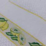 Coppia Asciugapiatti Spugna - Limoni