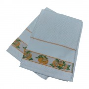 Set of Two Terry Dishtowels Ready to Stitch - Oranges
