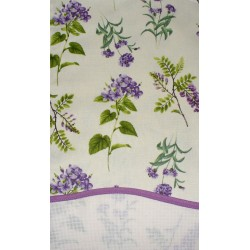 Stitchable Kitchen Towel - Lilac Flowers