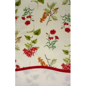 Stitchable Kitchen Towel - Red Flowers